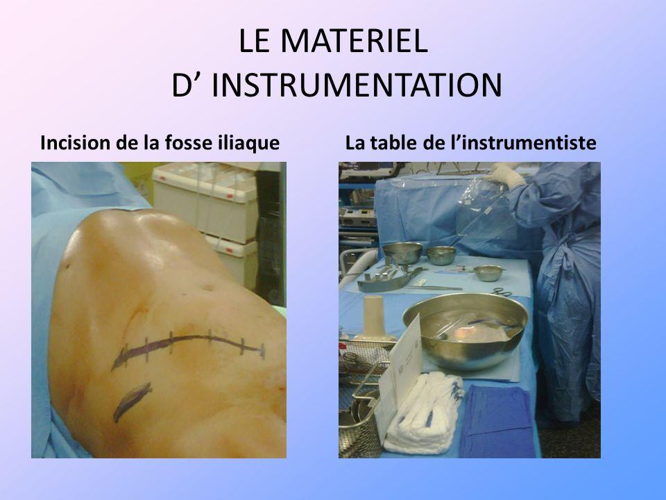 LE MATERIEL D' INSTRUMENTATION