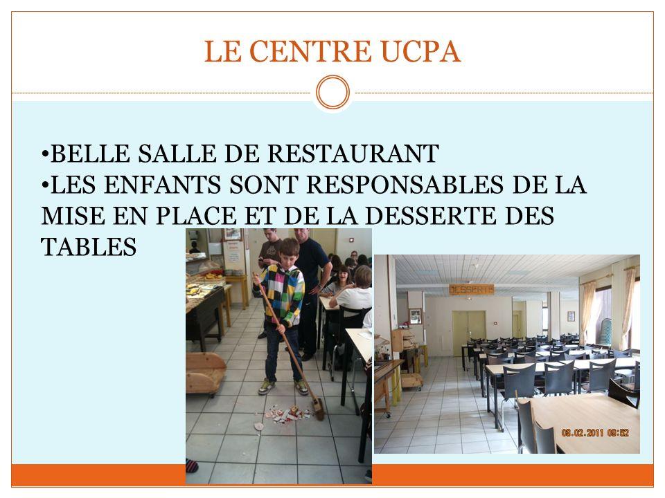 LE CENTRE UCPA BELLE SALLE DE RESTAURANT