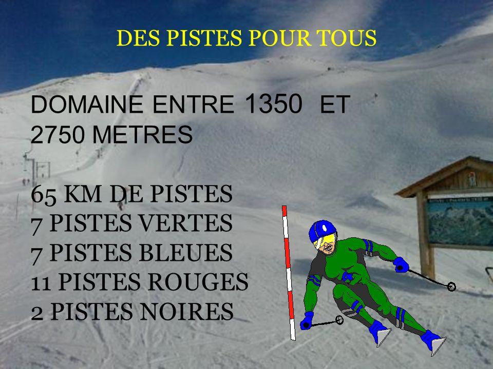 DOMAINE ENTRE 1350 ET 2750 METRES