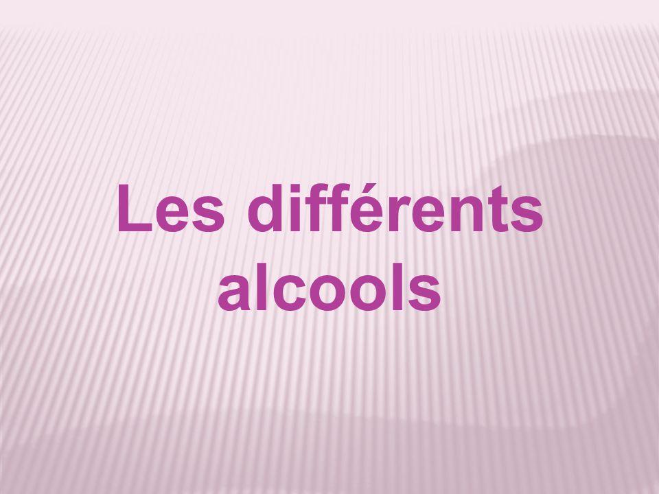 Les différents alcools
