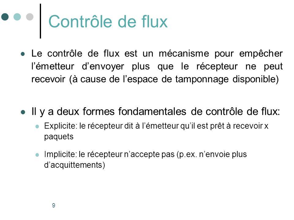Contrôle de flux Il y a deux formes fondamentales de contrôle de flux: