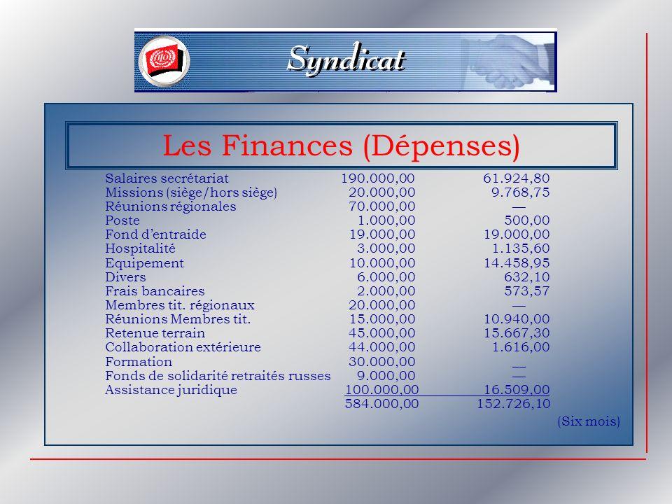 Les Finances (Dépenses)