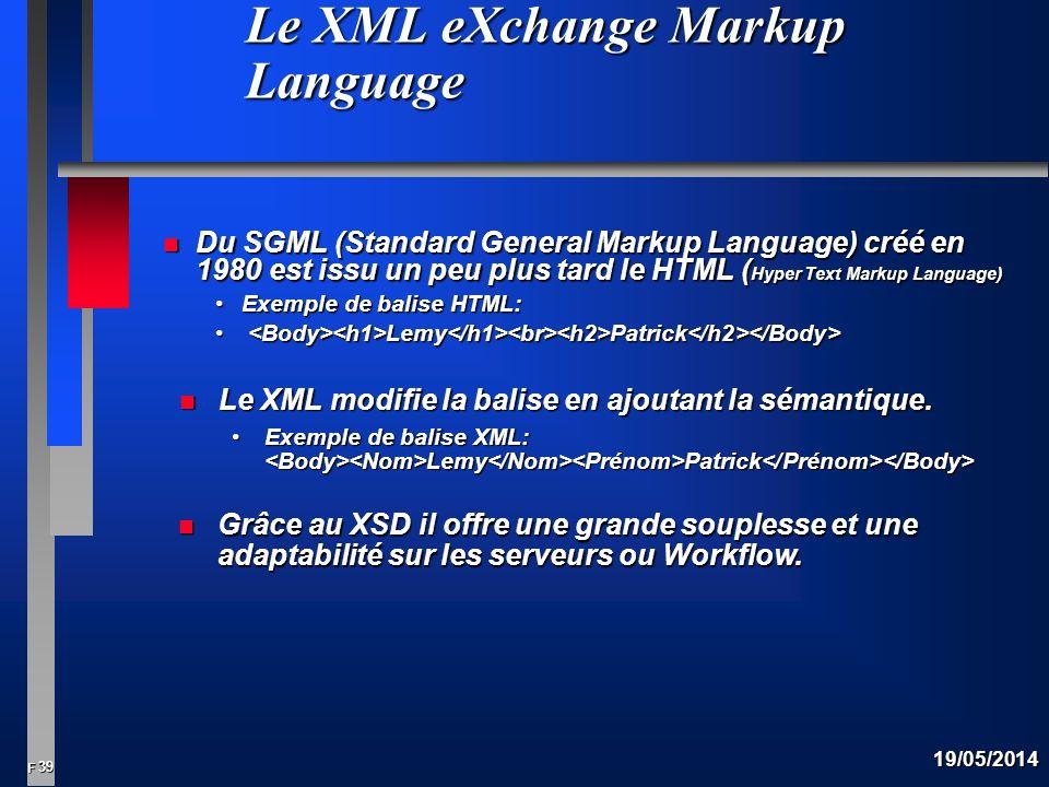 Le XML eXchange Markup Language