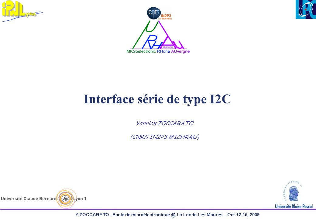 Interface série de type I2C