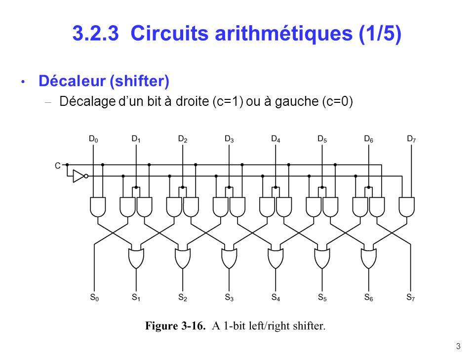 3.2.3 Circuits arithmétiques (1/5)