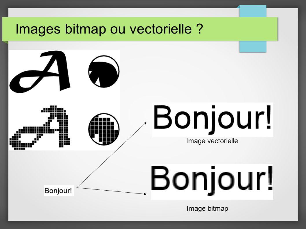 Images bitmap ou vectorielle