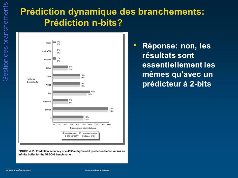 Prédiction dynamique des branchements: Prédiction n-bits