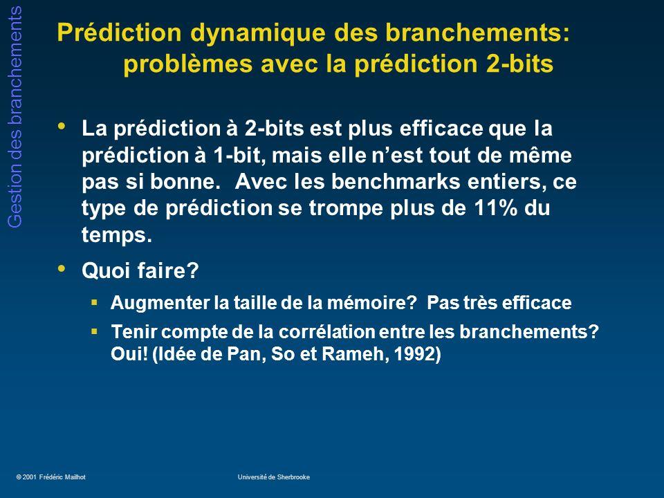 Prédiction dynamique des branchements: