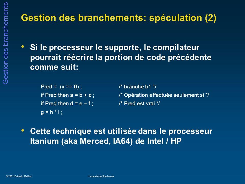 Gestion des branchements: spéculation (2)