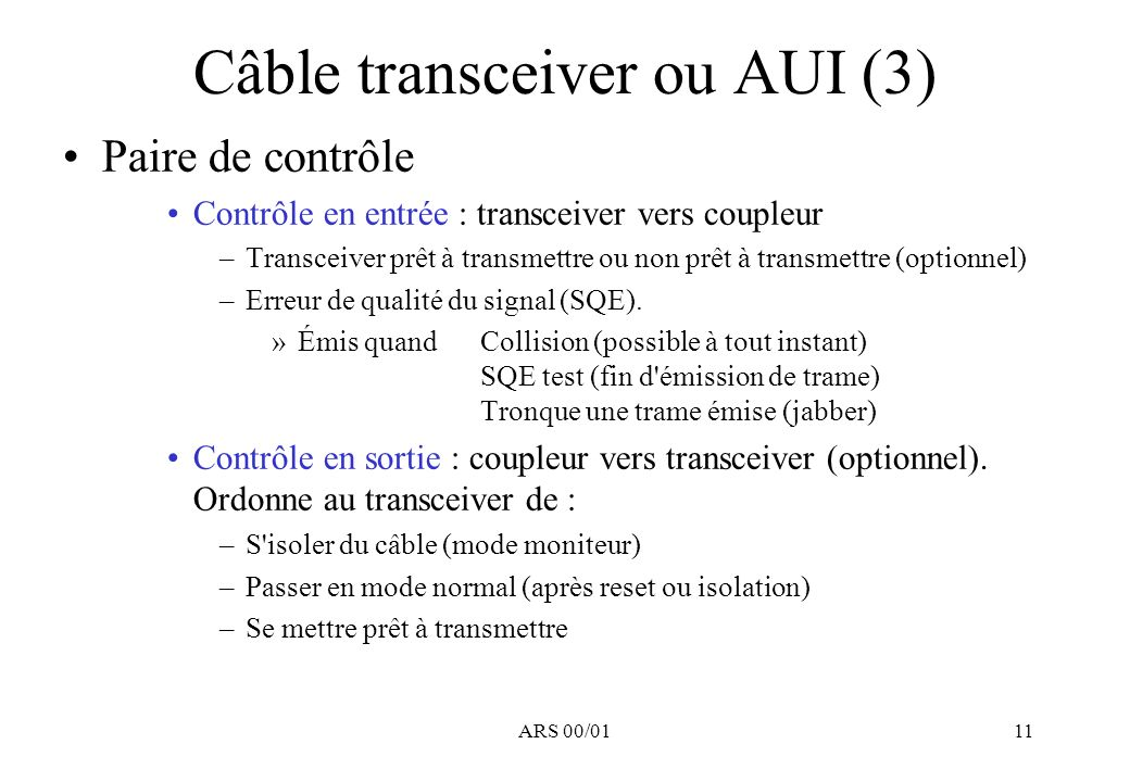 Câble transceiver ou AUI (3)