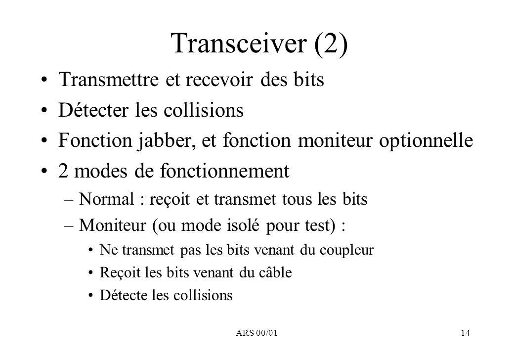 Transceiver (2) Transmettre et recevoir des bits
