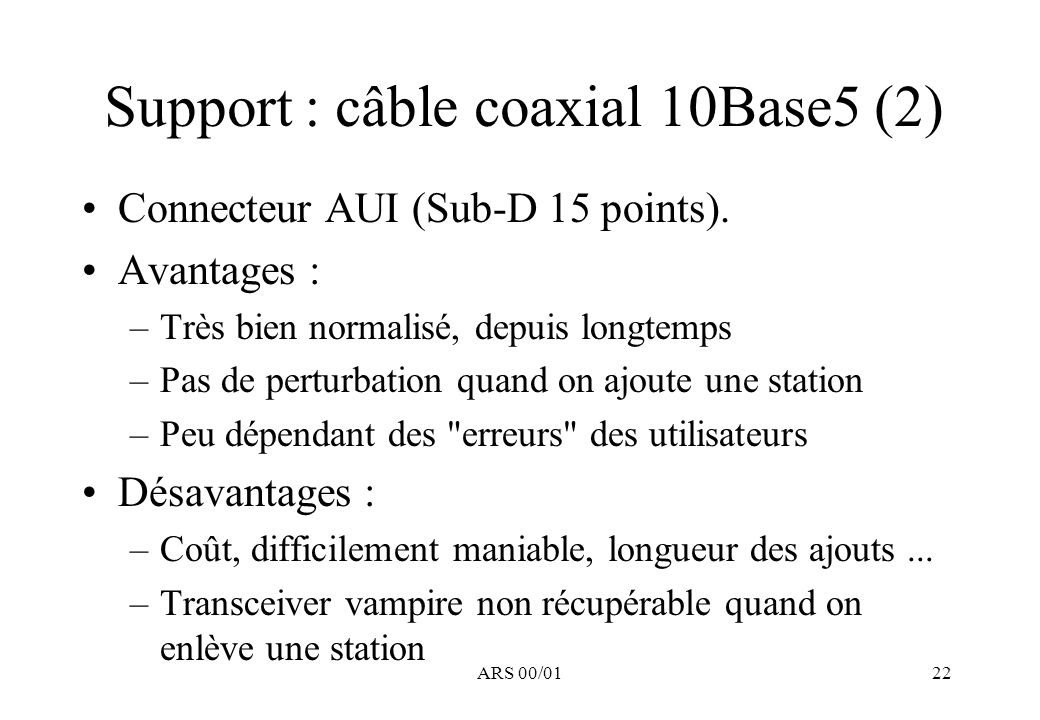 Support : câble coaxial 10Base5 (2)