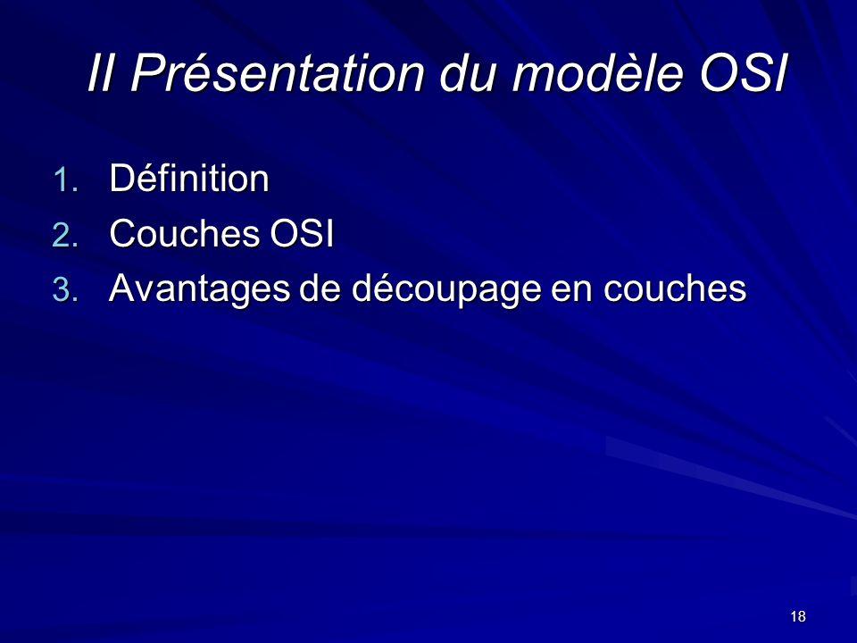 II Présentation du modèle OSI