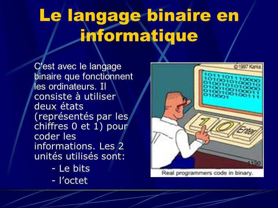 Le langage binaire en informatique