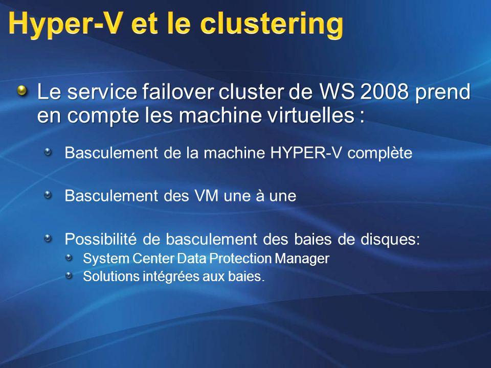 Hyper-V et le clustering