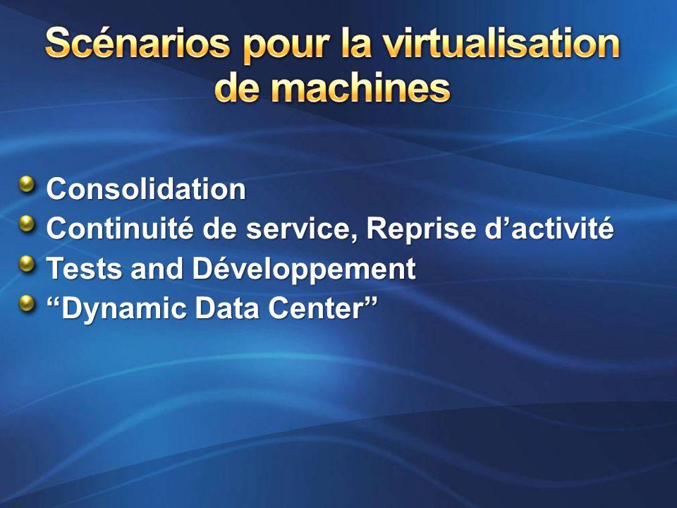 Scénarios pour la virtualisation de machines