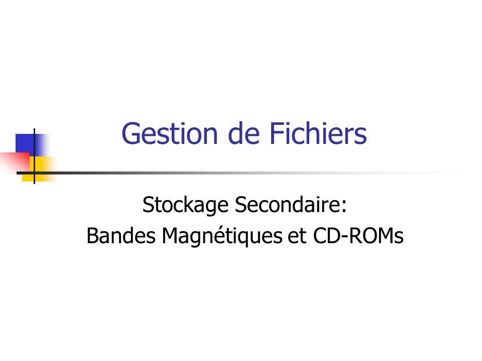 Stockage Secondaire: Bandes Magnétiques et CD-ROMs