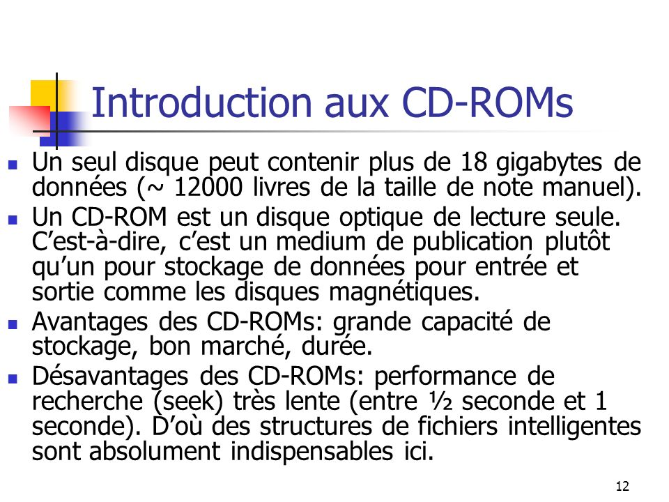 Introduction aux CD-ROMs