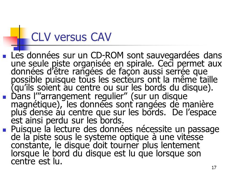 CLV versus CAV
