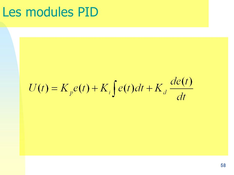Les modules PID