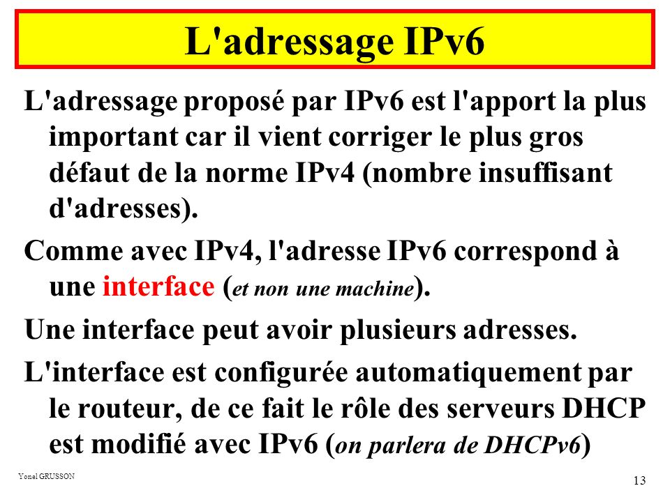 L adressage IPv6