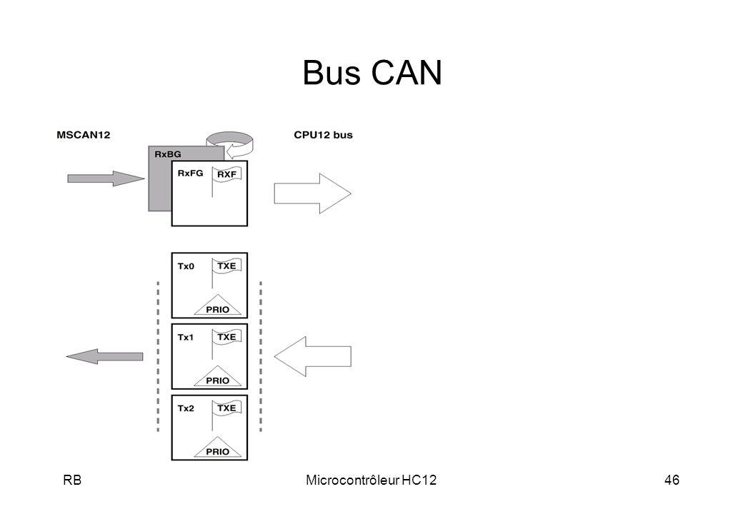 Bus CAN RB Microcontrôleur HC12