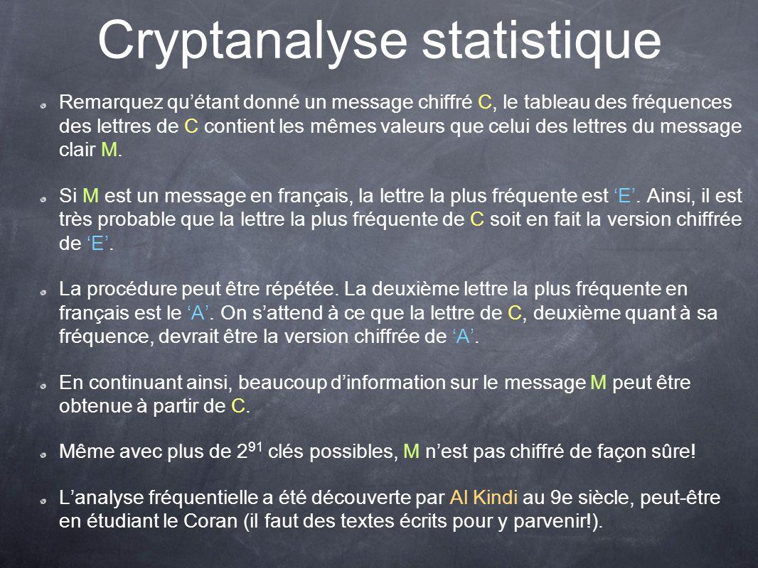 Cryptanalyse statistique