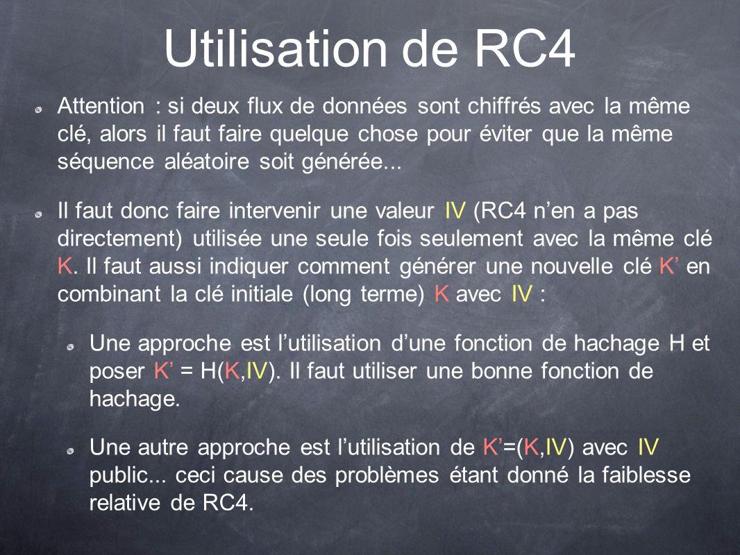 Utilisation de RC4
