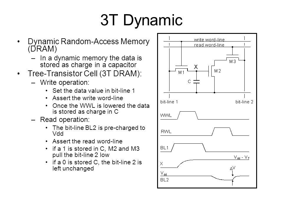 3T Dynamic Dynamic Random-Access Memory (DRAM)