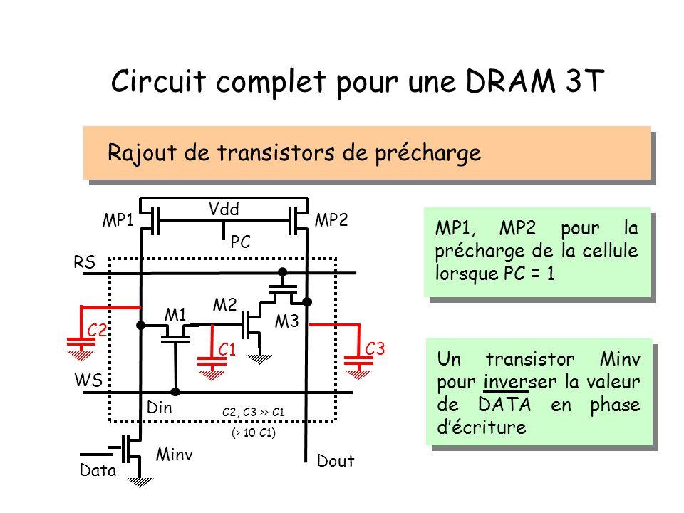 Circuit complet pour une DRAM 3T