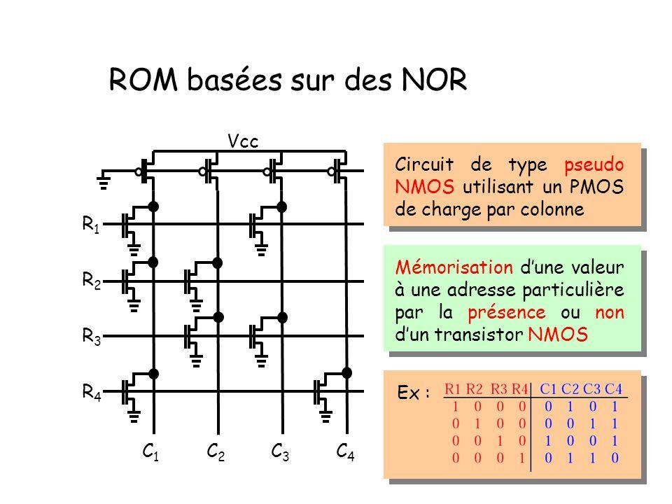 ROM basées sur des NOR Vcc