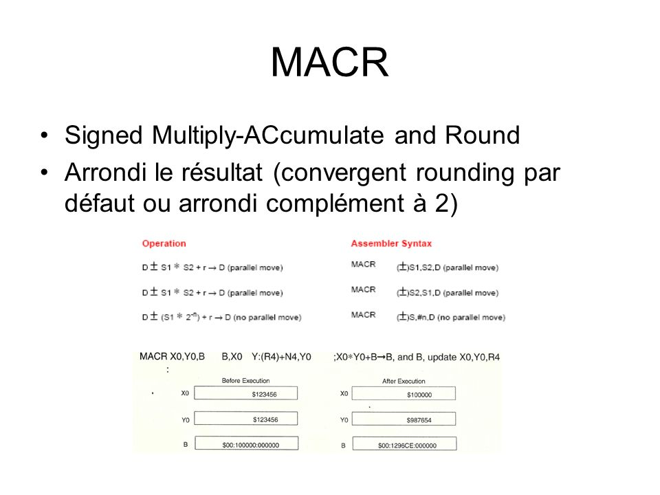MACR Signed Multiply-ACcumulate and Round