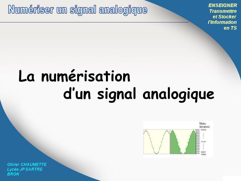 Numériser un signal analogique