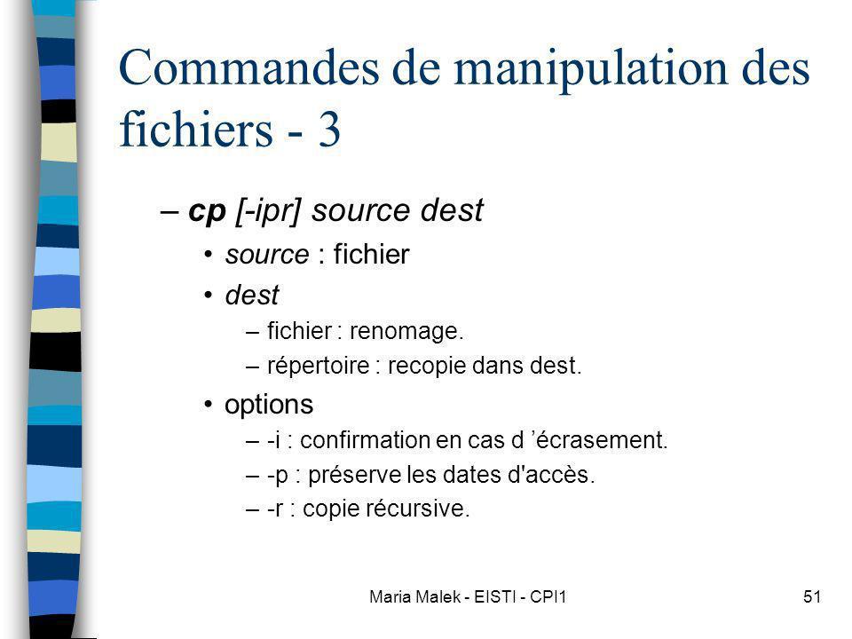 Commandes de manipulation des fichiers - 3