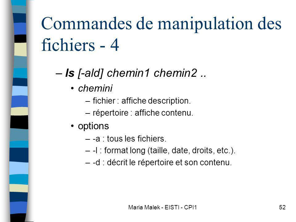 Commandes de manipulation des fichiers - 4