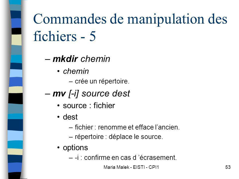 Commandes de manipulation des fichiers - 5