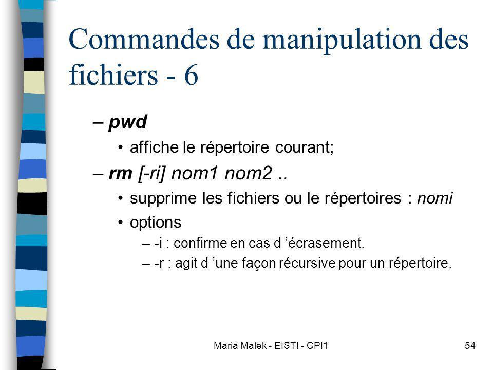 Commandes de manipulation des fichiers - 6