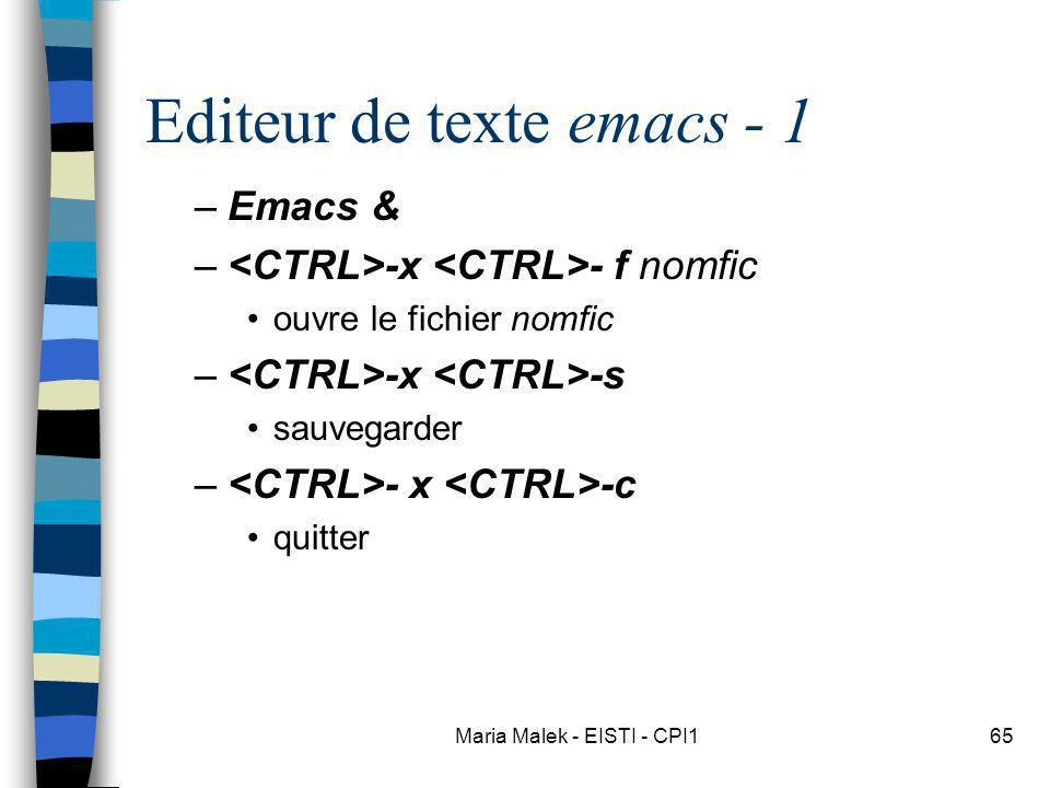 Editeur de texte emacs - 1