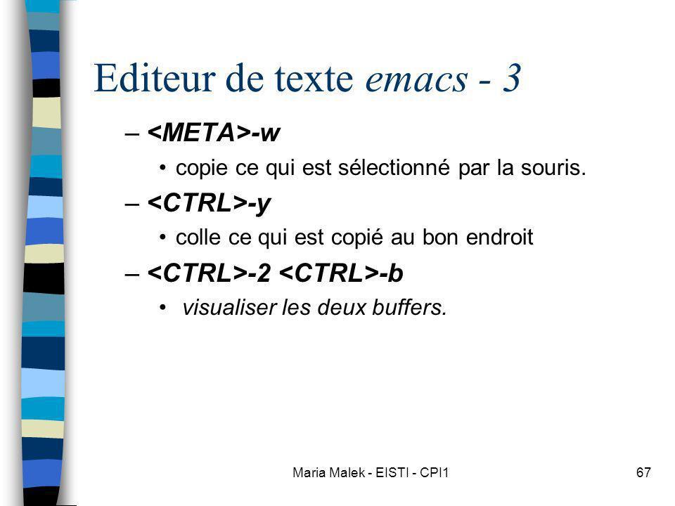 Editeur de texte emacs - 3
