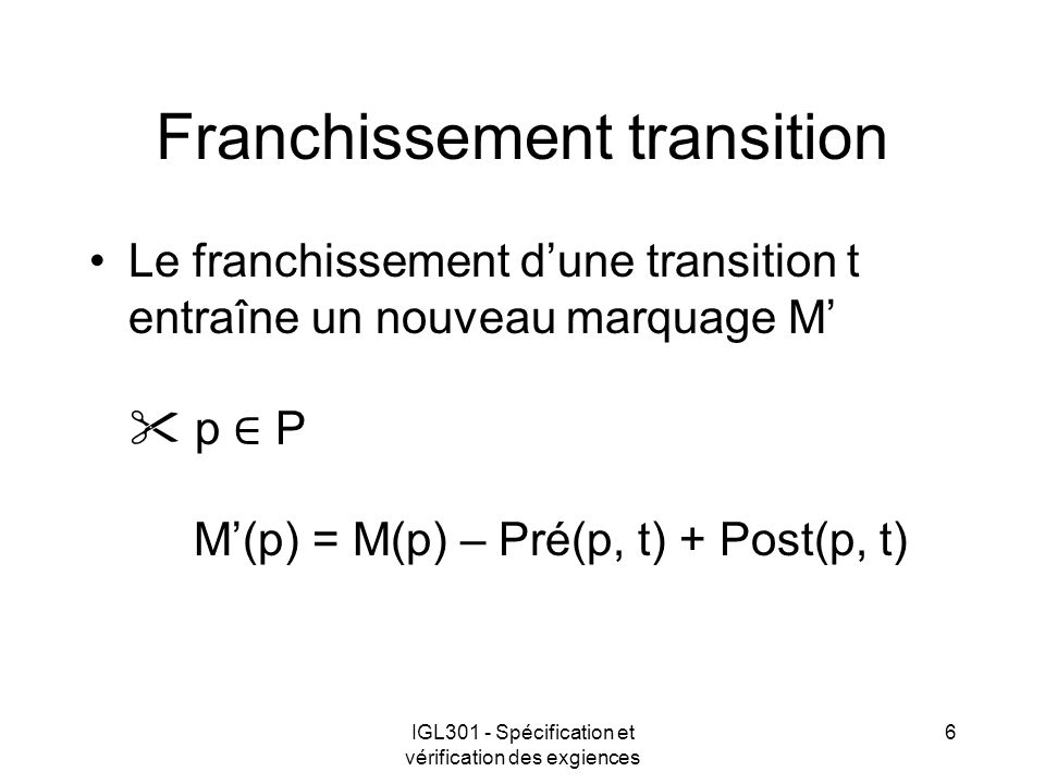 Franchissement transition