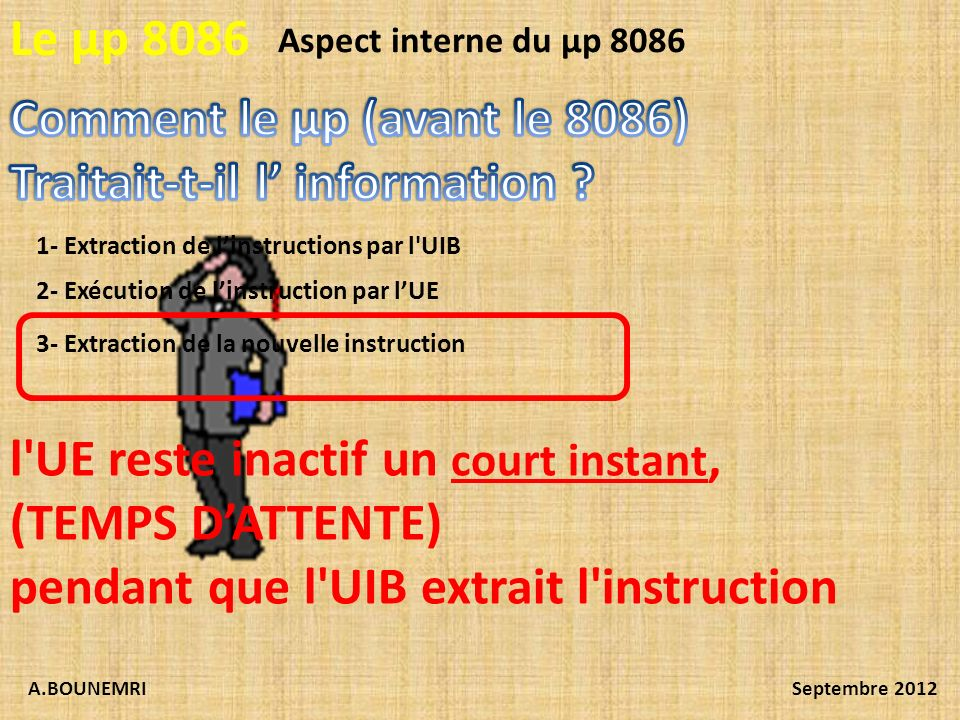 Comment le µp (avant le 8086) Traitait-t-il l' information