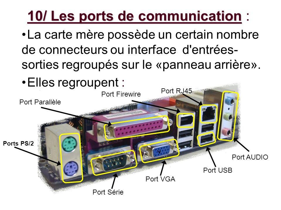 10/ Les ports de communication :