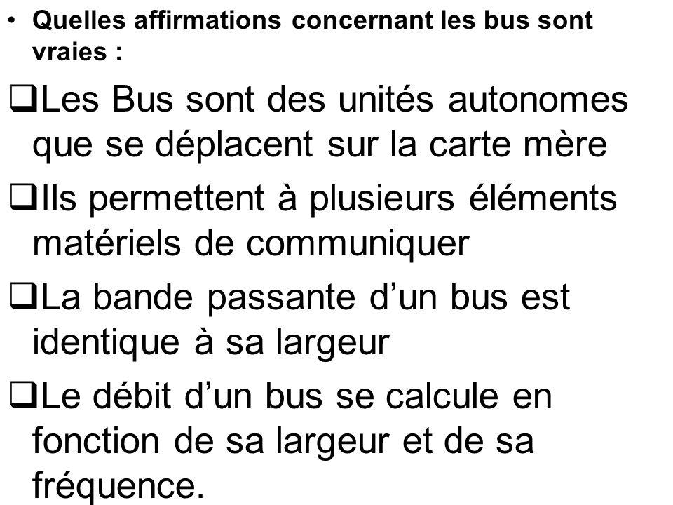 Les Bus sont des unités autonomes que se déplacent sur la carte mère