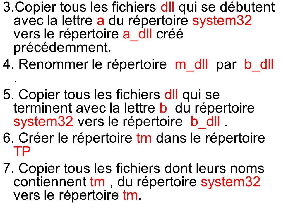 4. Renommer le répertoire m_dll par b_dll .