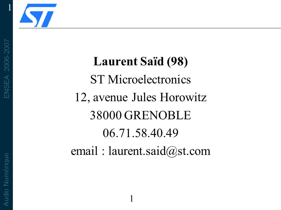 email : laurent.said@st.com