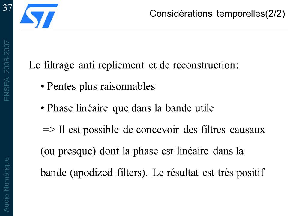 Considérations temporelles(2/2)