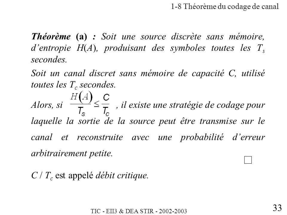 1-8 Théorème du codage de canal