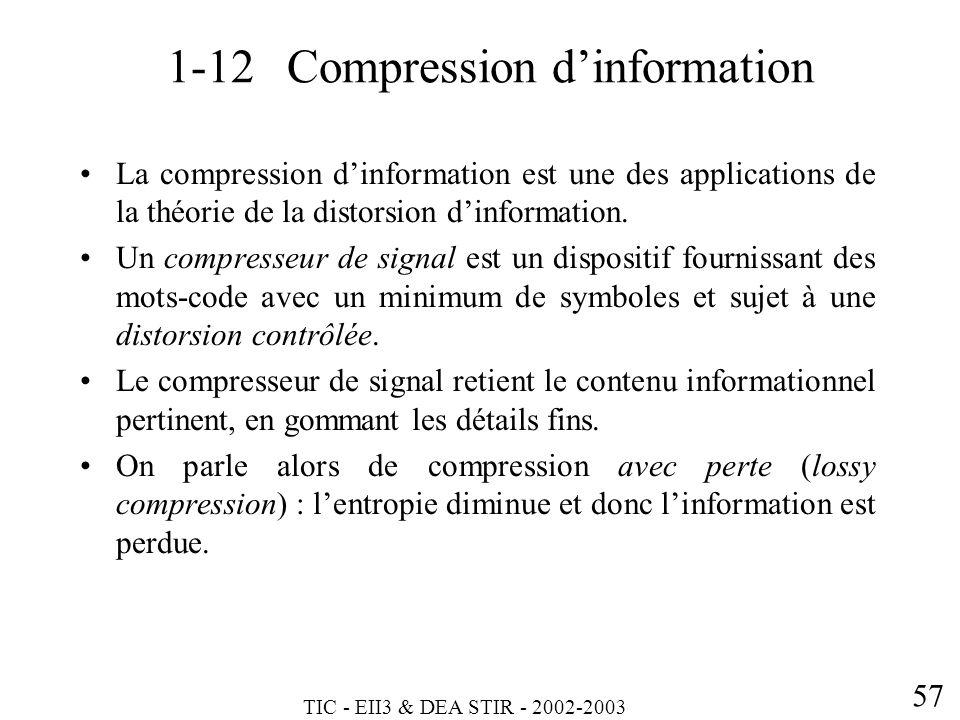 1-12 Compression d'information