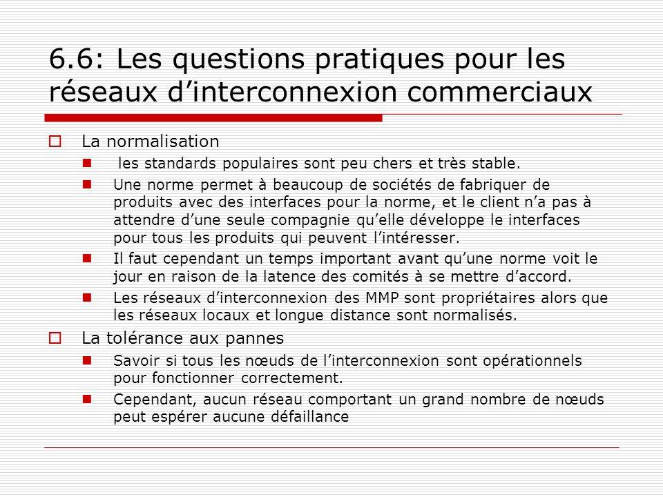 6.6: Les questions pratiques pour les réseaux d'interconnexion commerciaux