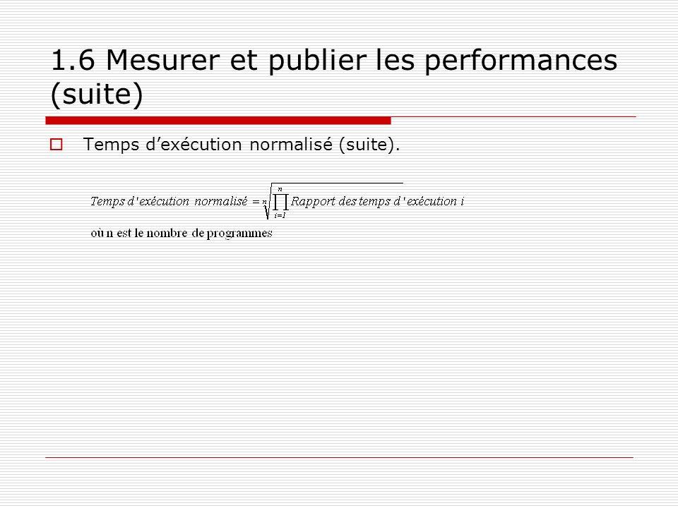 1.6 Mesurer et publier les performances (suite)